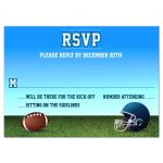 Football Gridiron Bar Mitzvah Reply RSVP Card