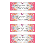 Pink Butterflies Fractal Lace Return Address