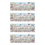 ​Woodland forest floral and butterflies watercolor personalized wedding address labels