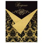 Great black and gold damask wedding or 50th anniversary response enclosure card.