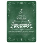 Green Chalkboard Tannenbaum Christmas Tree Holiday Party Invitation
