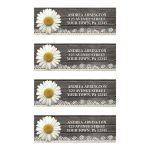Address Labels - Daisy Burlap and Lace Wood
