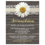 Accommodations Cards - Daisy Burlap and Lace Wood