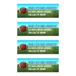 Football Gridiron Bar Mitzvah Return Address Labels