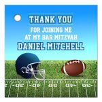 Football Field Gridiron Bar Mitzvah Favor Gift Tag