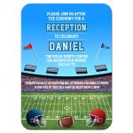 Football Stadium Gridiron Bar Mitzvah Reception Invitation