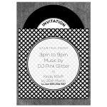 Vinyl Record Birthday Dance Party Invitation