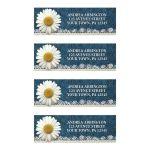Address Labels - Daisy Burlap and Lace Denim