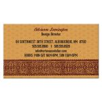 Aztec Sun Golden Mexican Pattern Business Card