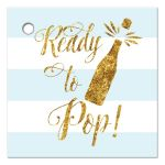 Ready to Pop Boy Baby Shower Favor Gift Tags