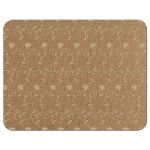 Elegant rustic burlap and lace wedding meal choice RSVP reply card back