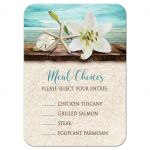 Meal Choice Cards - Beach Lily Seashells and Sand