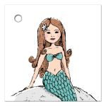 beautiful little mermaid baby shower favor thank you tag