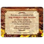 Rustic Biker Wedding Invitations