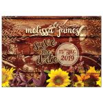 Rustic Sunflowers Vintage Motorcycle Customizable Invite