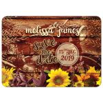 Rustic Sunflowers Vintage Motorcycle Customizable Invite