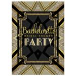 Art Deco Bridal Shower Invitation | Black and Gold Art Deco inspired