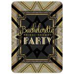 Art Deco Bridal Shower Invitation | Black and Gold Art Deco inspired