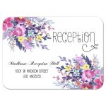 Modern Pastel Watercolor Floral Wedding Reception Card