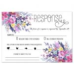 Modern Pastel Watercolor Floral Wedding Response Card
