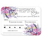 Modern Pastel Watercolor Floral Wedding Response Card