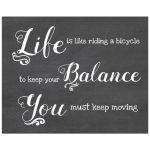 8x10 Life Balance Simulated Chalkboard Art Print