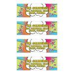 Unique and fun pop art comics comic book personalized Bar Mitzvah address labels