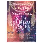 Nightsky Dreamcatcher Baby Shower Invitation