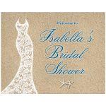 Beautiful beach Bridal Shower Poster