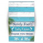 Sandy Toes Salty Kisses Thank You from Mr. & Mrs.