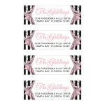 ​Chic Paris themed pink, black and white B'Not Mitzvah or Bat Mitzvah address labels