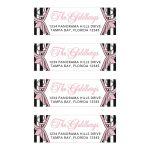 Chic Paris themed pink, black and white B'Not Mitzvah or Bat Mitzvah address labels