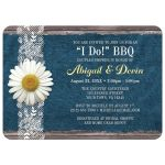 Couples Shower Invitations - I Do BBQ Daisy Denim and Lace