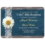Reception Only Invitations - I Do BBQ Daisy Denim and Lace