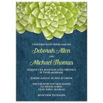 Wedding Invitations - Succulent Green and Blue Denim