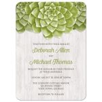 Wedding Invitations - Succulent Whitewashed Wood Rustic