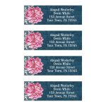Address Labels - Pink Peony Denim and Lace Rustic