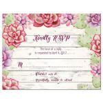 Cactus and Succulents Wedding RSVP