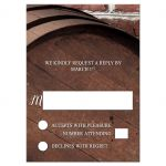 RSVP Reply Cards - Rustic Wine Barrel Vineyard