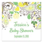 Yellow and Green Gender Neutral Baby Shower Favor Gift Tags