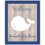 White Whale Welcome Party Sign Customized Text