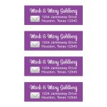 Photo sharing social media app Bat Mitzvah return address mailing labels