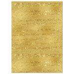 ​Black, Ivory and gold foil striped golden anniversary invite with formal gold chandelier.