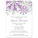 Bridal Shower Invitations - Winter Snowflake Purple Silver
