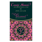 OMYoga Pink Purple Mandala Business Cards
