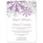 Reception Only Invitations - Winter Snowflake Purple Silver