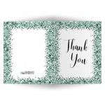 Sparkly Green Confetti Thank You Card