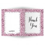 Sparkly Pink Confetti Thank You Card blank inside
