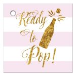 Ready to pop gold glitter and blush pink favor gift tags