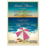 Cute Flip Flops On a Beach Bridal Shower Invitation
